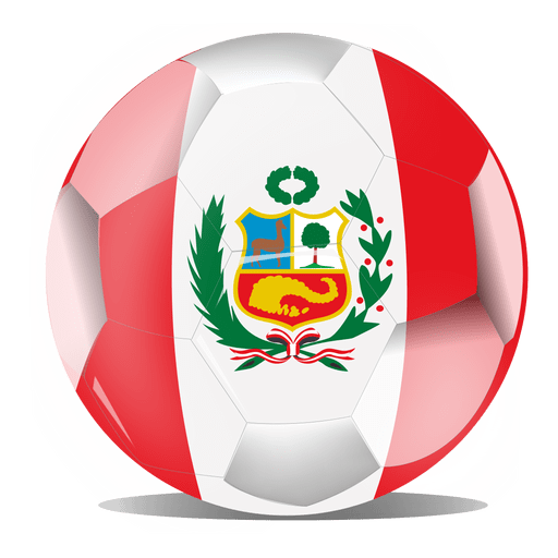 Peru flag ball Transparent PNG