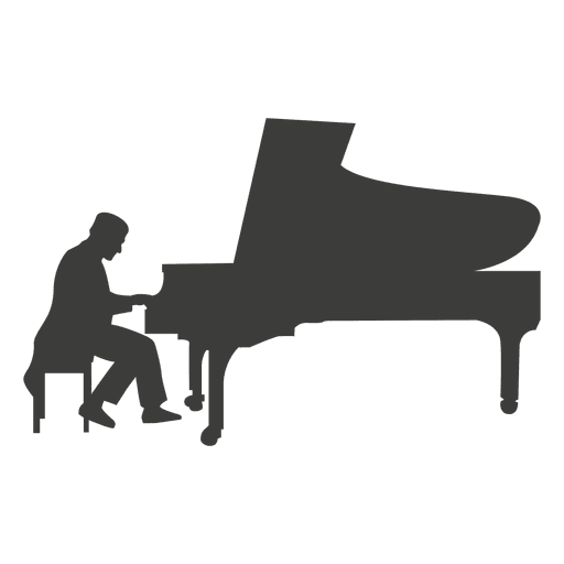 Pianist musican silhouette - Transparent PNG & SVG vector