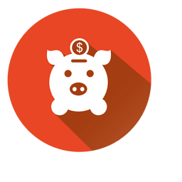 Icono de círculo de banco de cerdo