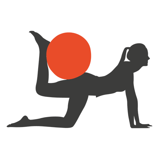 Pilates exercise girl silhouette Transparent PNG