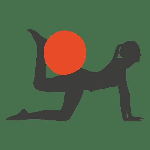 Pilates exercise girl silhouette