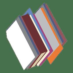 Pilhas de ícone de livros