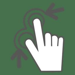 Aperte o ícone do gesto