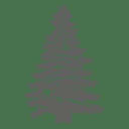 Silueta de un árbol de pino 1