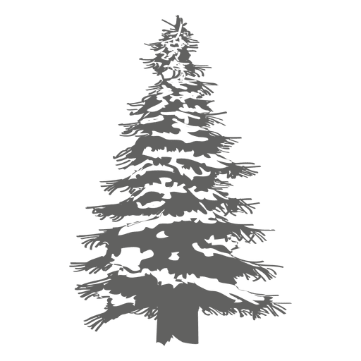 Pine tree silhouette 1 - Transparent PNG & SVG vector