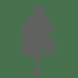 silueta del árbol de pino 2