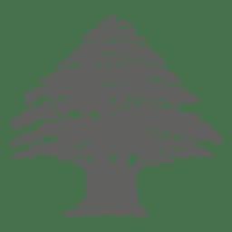 Silueta del árbol de pino 3