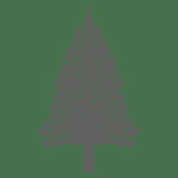 Silueta del árbol de pino 4