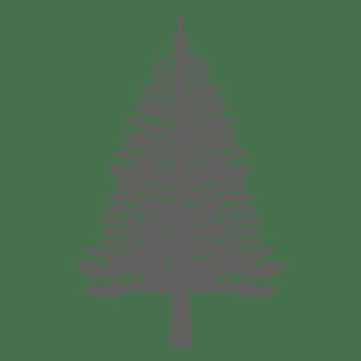 Silhueta de pinheiro 4