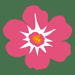 Flor rosa hawaiana