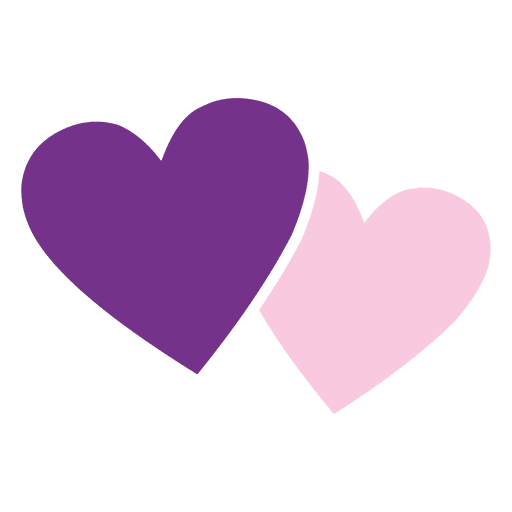 Pink purple hearts icon Transparent PNG