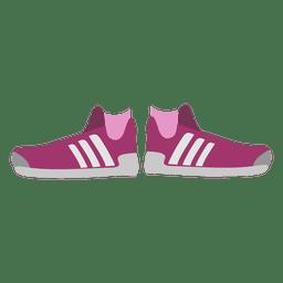 As sapatilhas das mulheres-de-rosa