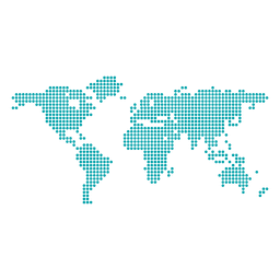 Pixel dotted world map