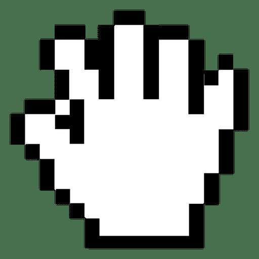 pixilated hand cursor transparent png amp svg vector