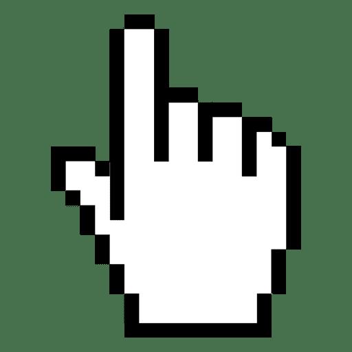 Cursor de mão pixelizada 1 Transparent PNG
