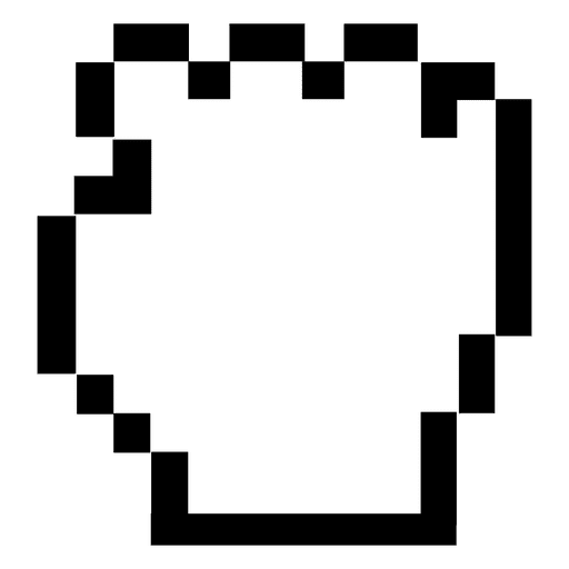 Pixilated hand mouse cursor - Transparent PNG & SVG vector  Hand