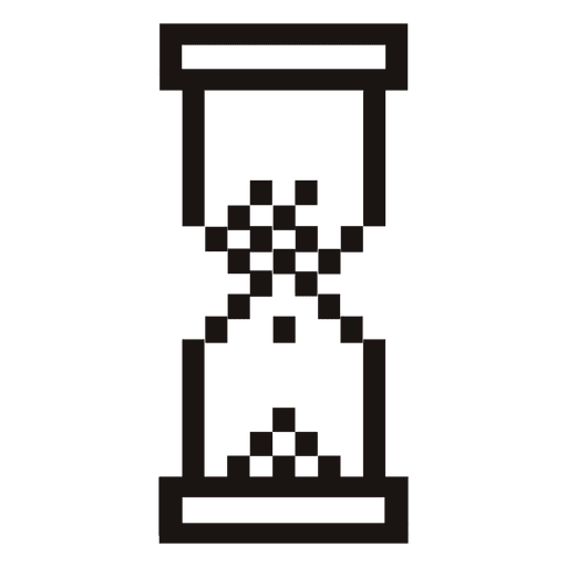 pixilated hourglass mouse cursor png - Halloween Tumblr Cursors