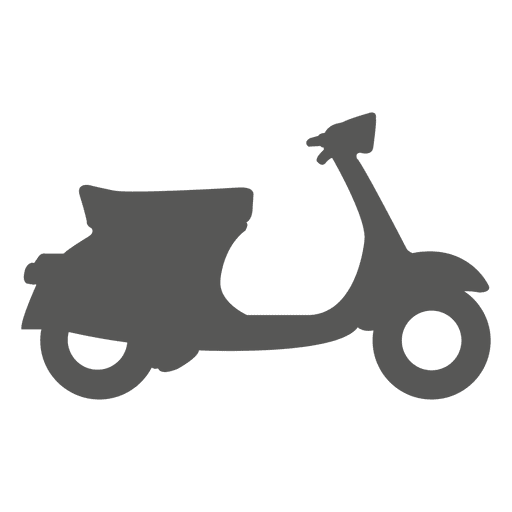 Pizza delivery bike side icon Transparent PNG
