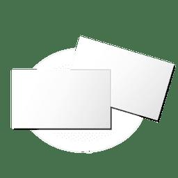 Folhetos em branco simples