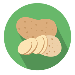 Potato circle icon
