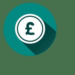 Icono de círculo de libras 2