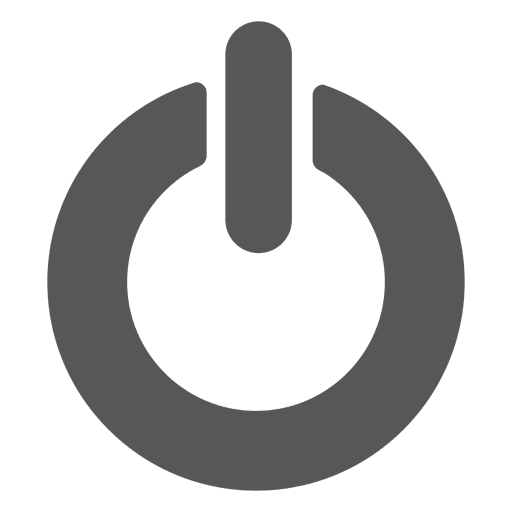 Simple power button icon