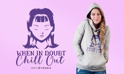 Diseño de camiseta When Doubt