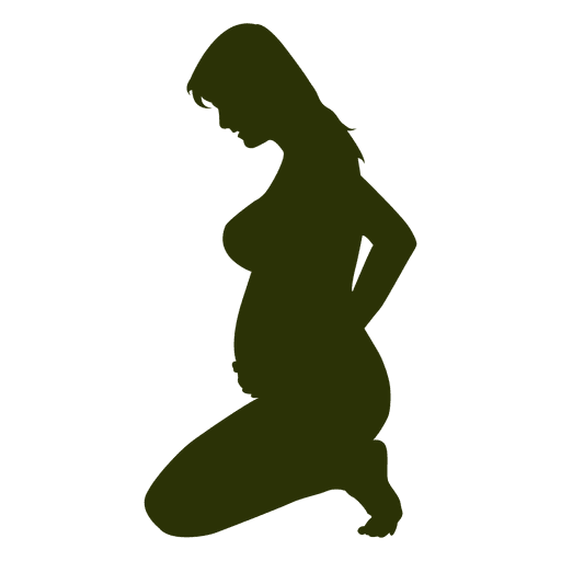 Pregnant lady sitting silhouette Transparent PNG