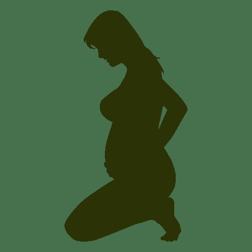 Senhora grávida sentada silhueta Transparent PNG
