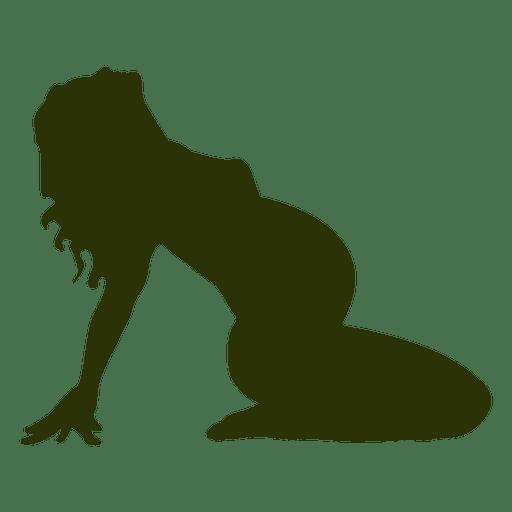 Mulher grávida, silueta, em, verde Transparent PNG