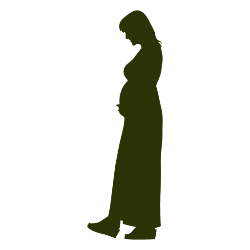 Pregnant woman silhouette 1 Transparent PNG