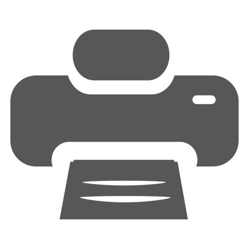 Icono de impresora plana