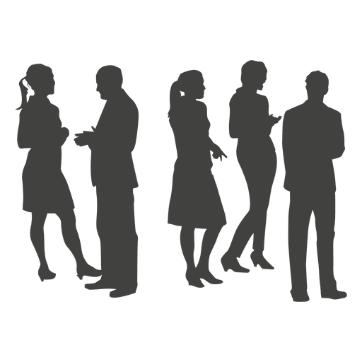 Professional group silhouette Transparent PNG