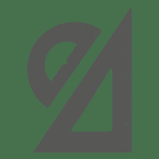Transportador triángulo lateral izquierdo con herramientas geométricas. Transparent PNG