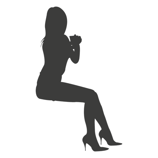 Provocative girl silhouette Transparent PNG