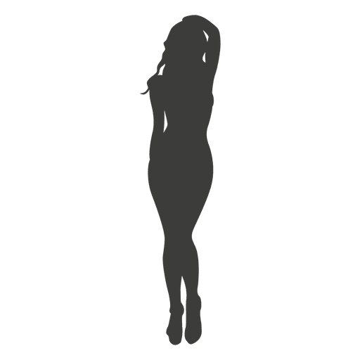 Provocative girl silhouette 1 Transparent PNG