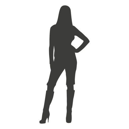 Provoking girl silhouette Transparent PNG
