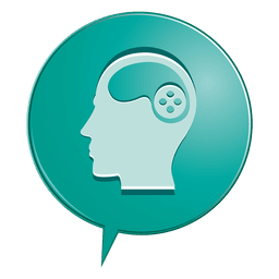Icono de la burbuja de la psicología