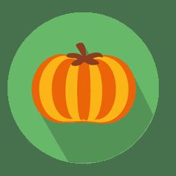 Icono de círculo plano de calabaza
