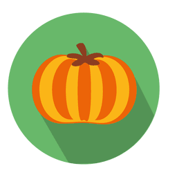 Pumpkin flat circle icon