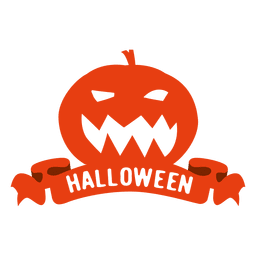 Pumpkin halloween badge2