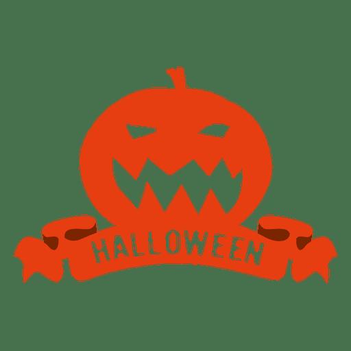 Pumpkin halloween badge2 Transparent PNG