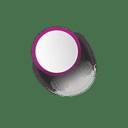 Elipse de borda roxa branca