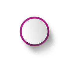 Purple rim white ellipse