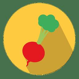 Icono de círculo de rábano