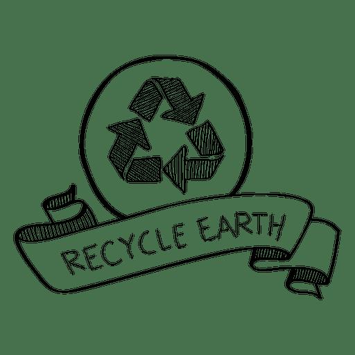 Reciclar fita de doodle de terra Transparent PNG