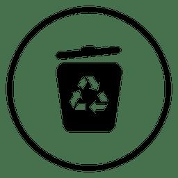 Icono de círculo de reciclar tras