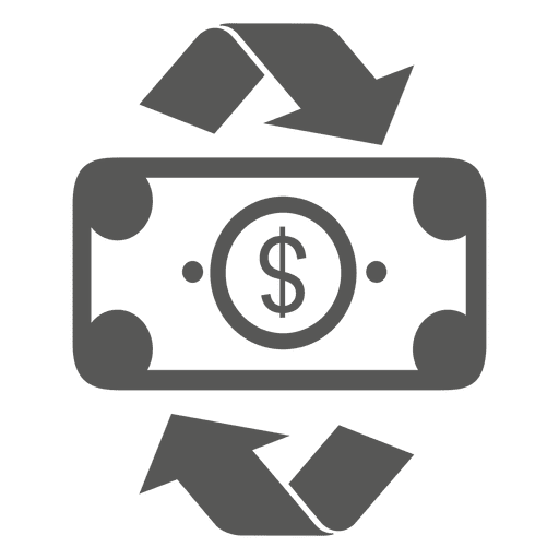Recycling dollar bill icon - Transparent PNG & SVG vector