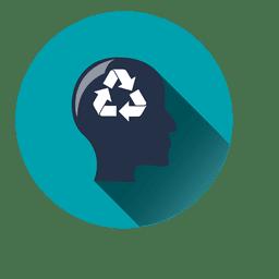 Icono de círculo de idea de reciclaje