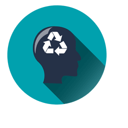 Recycling idea circle icon